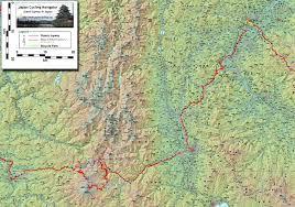 Alps Mountains Map Japan Cycling Navigator Length Of Japan
