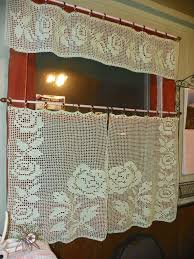 Curtain In Kitchen by 36 Best Cortinas Images On Pinterest Crochet Curtains Crochet