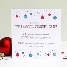christmas invitations personalised baubles and bubbles christmas invitations by martha