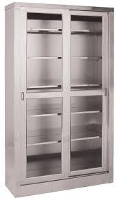Recessed Cabinet Door Pulls Extraordinary Storage Cabinet Sliding Doors With Stainless Steel