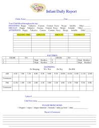 Daily Report Sheet Template Daily Report Sheet Images Daily Notes Infant Daily