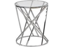 round metal side table metal bars round table criss cross bars table libra nickel twist