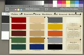 international harvester paint chart print wisconsin historical