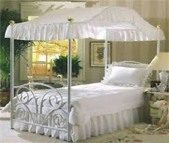 Princess Bed Canopy Queen Size White Eyelet Princess Bed Canopy Fabric Top Cover Ebay