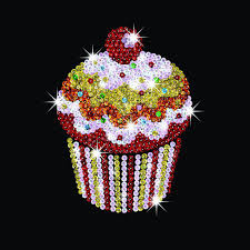 sequin style cupcakes sparkling arts and crafts picture kit
