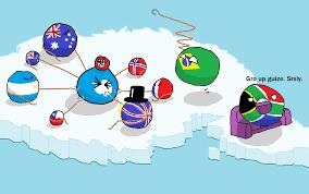 Antarctic Flag Antarctic Territorial Claims Countryballs