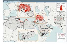 North Africa Middle East Map by Ihs Maps Attack Footprint Of Islamic State And Affiliates Across