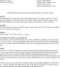 zoo writing paper public relations writing zoo bug exhibit media advisory media advisory 2