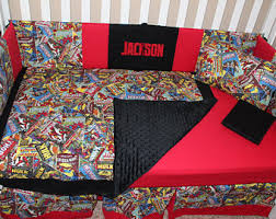 Marvel Double Duvet Cover Marvel Crib Bedding Etsy