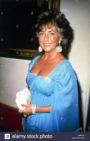 liz taylor elizabeth taylor blue dress stock photo royalty free