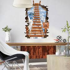 stair to the sky 3d wall stickers mural children u0027s bedroom