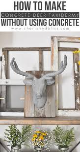 concrete deer head taxidermy cherished bliss
