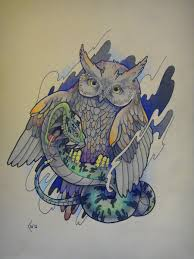 owl tattoos design tattoo design owl and snake by xenija88 on deviantart