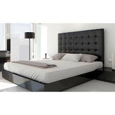 chambre avec lit noir tête de lit capitonnée 140 noir achat vente tête de lit tête