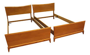 Twin Size Bed Frames Heywood Wakefield Mid Century Twin Size Bed Frames A Pair Chairish
