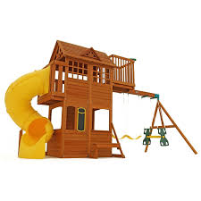 amazon com kids outdoor adventure clubhouse with twist n u0027 ride