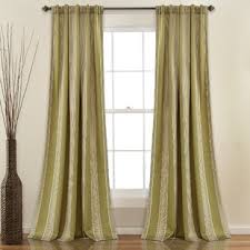 Green Striped Curtains Green Striped Curtains Drapes You Ll Wayfair