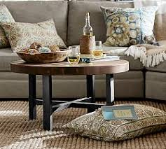 coffee table accents glass wood and metal coffee tables pottery barn