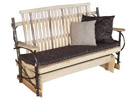 rustic hickory porch glider from dutchcrafters amish furniture