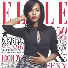 scandal star kerry washington landed the cover of elle u0027s june