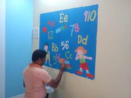 play wall painting mumbai pre kids classroom full room