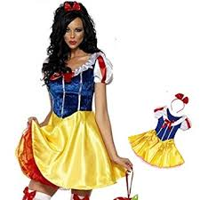 Snow White Halloween Costume Women Female Disney Fairytale Fancy Dress Snow White Costume Uk