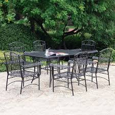 Wrought Iron Patio Furniture Set by Shop International Caravan Tropico 7 Piece Wrought Iron Patio