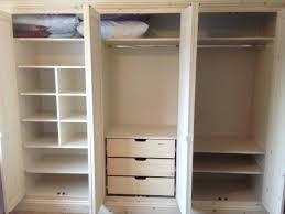 Functional Bedroom Furniture Fitted Storage Solid Redwood Wardrobe With Fully Functional