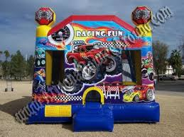 monster truck race car bounce house rentals rent cars bounce