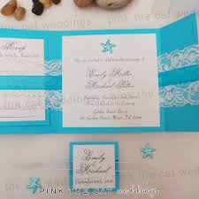 pocket fold 30 wedding invitations lace blue pocket fold square set