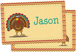 turkey placemats personalized kids placemats laminated in plastic