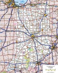 State Map Of The Usa by Large Detailed Roads And Highways Map Of Indiana State With All