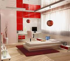 japan home design magazine modern japanese bedroom deseign with red cabinet and wooden floor