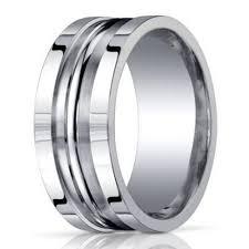 silver mens wedding bands men s designer argentium silver ring in satin finish 10mm