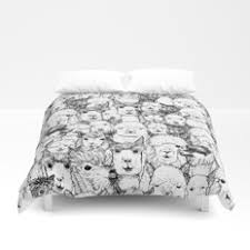 animals and drawing duvet covers society6