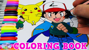 pokemon coloring book colors episode pikachu ash speed colouring