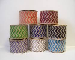 burlap ribbon burlap ribbon chevron ribbon christmas ribbon 2 5 wide 5 yds
