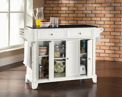 white kitchen island with black granite top storage cabinets small kitchen island with black granite top in