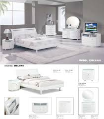 Glossy White Dresser Global Furniture Emily Glossy White Bedroom Set 5 Pieces
