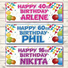 personalised birthday balloons 2 personalised birthday banners bunting balloons