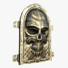 gate skull ornament model