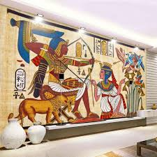 online get cheap custom wall murals aliexpress com alibaba group classic retro egyptian pattern non woven wallpaper bar ktv wallpapers for living room restaurant wall painting custom wall mural