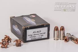 Barnes Tac Xpd 45 Acp 5 Short Barreled Handgun Loads