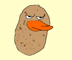 Meme Faced - a really freaking good meme faced potato duck drawing by