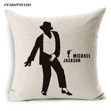 super star michael jackson cushion dancer throw pillow sketch