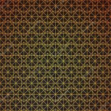 deco wrapping paper gold geometric retro abstract seamless cube pattern with rhombuses