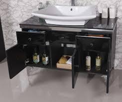 42 Bathroom Vanity by Soiree Ii Modern Bathroom Vanity Set With Black Beveled Glass 42