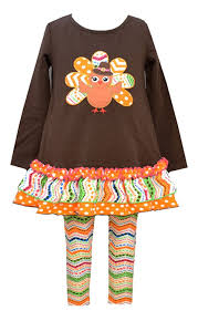 thanksgiving attire amazon com bonnie jean girls thanksgiving turkey dress