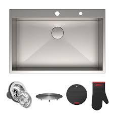 33 x 22 drop in kitchen sink kraus pax zero radius topmount series 33 x 22 drop in kitchen