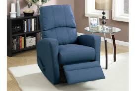 Swivel Recliner Armchair Wiv Blue Fabric Swivel Recliner Steal A Sofa Furniture Outlet